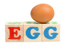 Egg word Royalty Free Stock Photo