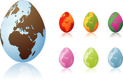 Egg world Royalty Free Stock Images