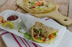 Egg wrap with veggies Stock Photography