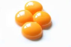 Egg yolk close up Royalty Free Stock Image