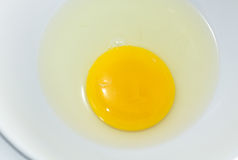Egg yolk closeup  Royalty Free Stock Photos