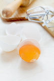 Egg yolk in the shell Stock Photography