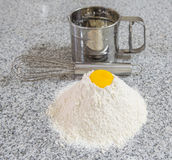 Egg Yolk and Flour Stock Image