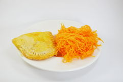 Egg yolk golden thread original and egg yolk golden thread pie Stock Images