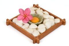 Egg yolk. Egg yolk natural raw materials with medicinal properties royalty free stock images