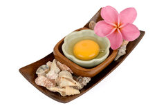 Egg yolk. Egg yolk natural raw materials with medicinal properties stock image