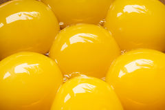 Egg yolks close up Stock Photo