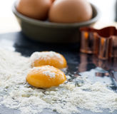 Egg yolks Royalty Free Stock Image
