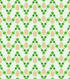 Egg and zigzag blossom easter pattern  Stock Images
