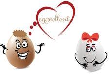 Eggcellent dziewczyna Ilustracja Wektor