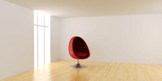 eggchair δωμάτιο Στοκ Φωτογραφία