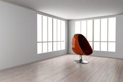 Eggchair in a room Stock Photos
