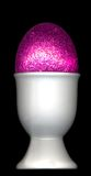 Eggcup with pink easter eggs Royalty Free Stock Photos