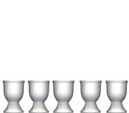 Eggcups. Five eggcups on a white background Royalty Free Stock Photography