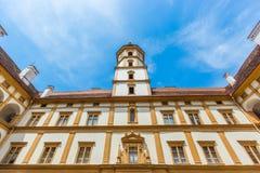 Eggenberg pałac Façade symetria Obraz Stock