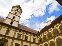 Eggenberg Palace courtyard. Baroque inner courtyard of Eggenberg Palace Royalty Free Stock Image