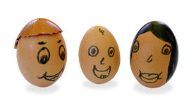 Egghead family Royalty Free Stock Image