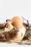 Eggholder com ovo Imagens de Stock