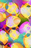 Egghunt. Abstract watercolored easter egg collage Stock Photography