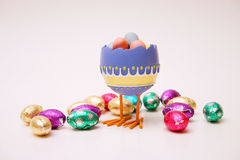 Eggies. Easter egg scene Royalty Free Stock Photography