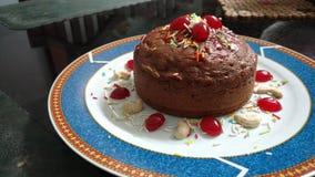 Eggless蛋糕 免版税库存图片