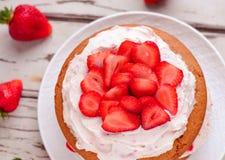 Eggless蛋糕 图库摄影