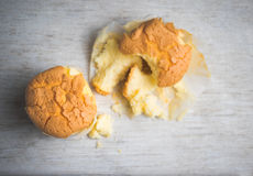 Eggless Vanille-kleine Kuchen Stockfotos