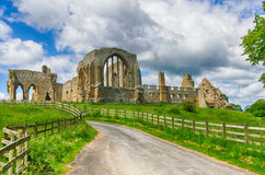 Egglestone Abbey ruins in County Durham Stock Photo