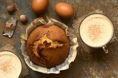 Eggnog κέικ Στοκ εικόνες με δικαίωμα ελεύθερης χρήσης