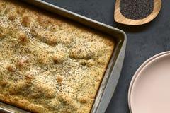 Eggnog και παπαρουνών κέικ σπόρου Στοκ Εικόνες