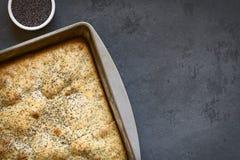 Eggnog και παπαρουνών κέικ σπόρου Στοκ εικόνες με δικαίωμα ελεύθερης χρήσης