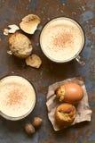 Eggnog και Eggnog Cupcakes Στοκ φωτογραφίες με δικαίωμα ελεύθερης χρήσης