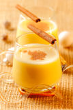 Eggnog. Festive  eggnog with cinnamon and nutmeg for the holidays Royalty Free Stock Image