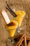 Eggnog with biscuit Stock Photography