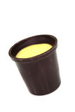 Eggnog in chocolate cups Stock Image