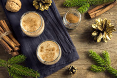 Eggnog for Christmas Royalty Free Stock Photo