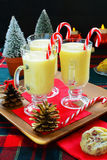Eggnog and Christmas cookies Stock Photo