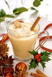 Eggnog at christmas time Royalty Free Stock Photos