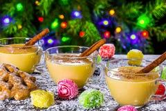 Eggnog with cinnamon for christmas Royalty Free Stock Image