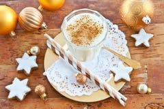 Eggnog with cinnamon Royalty Free Stock Photo