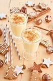 Eggnog with cinnamon Stock Photography