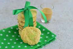 Eggnog cookies. Homemade eggnog cookies with sugar sprinkles Royalty Free Stock Photo