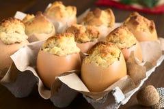 Eggnog Cupcakes Στοκ Φωτογραφίες