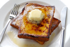 Eggnog french toast Stock Photography