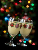 Eggnog and Holiday Lights Stock Photography