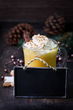 Eggnog with label Royalty Free Stock Image