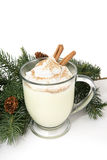 Eggnog and Pine royalty free stock photo