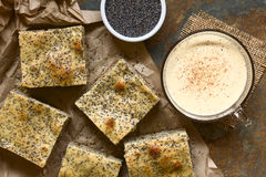 Eggnog and Poppy Seed Cake Stock Photos
