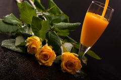 Eggnog And Roses Royalty Free Stock Photo