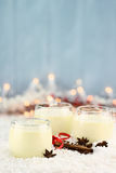 Eggnog and Spices Stock Images